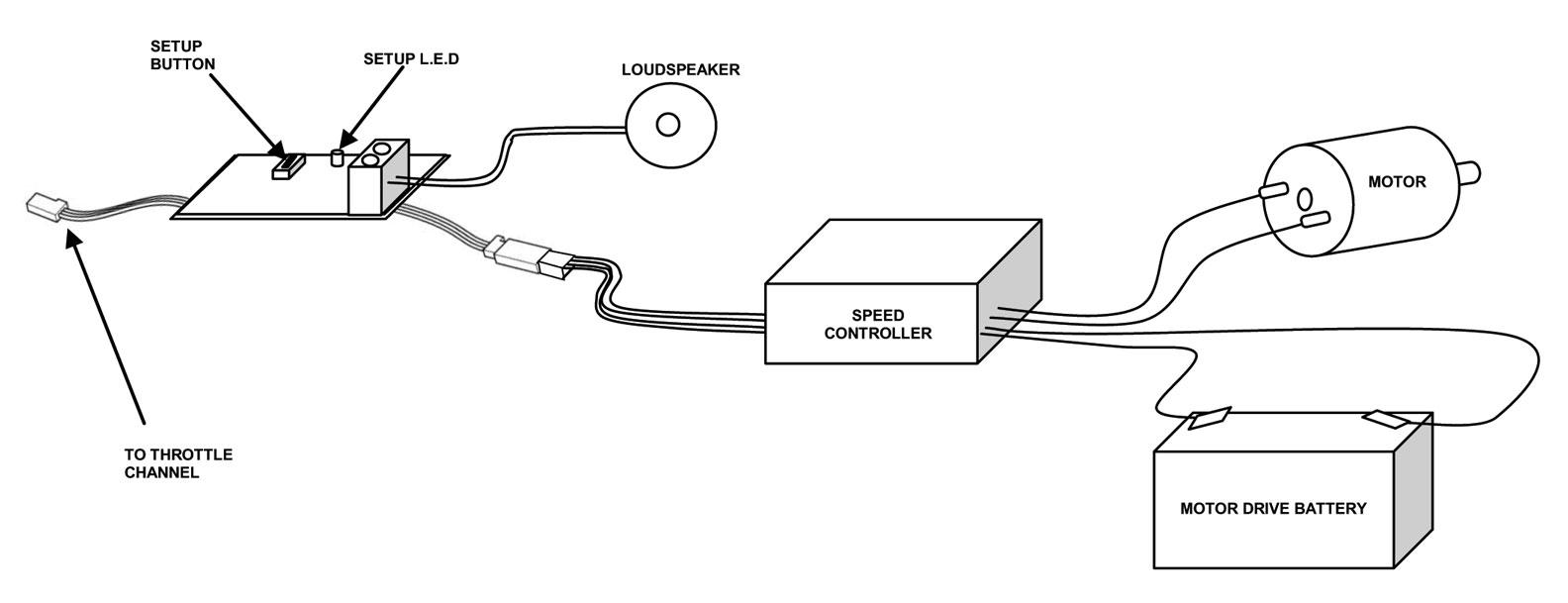 engine sound generator rc radio control model cars boats