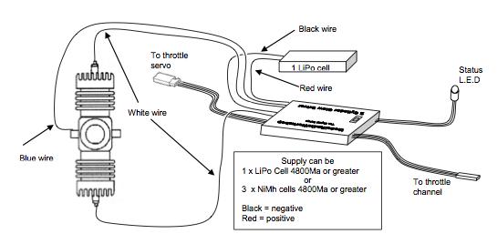 mrw35 2 cylinder lipo glow driver